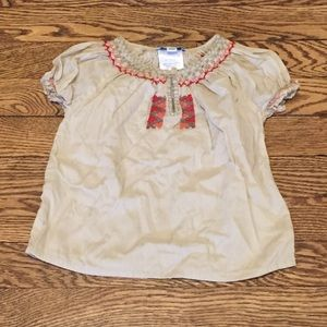 C de C 18M Embroidered Peasant Top